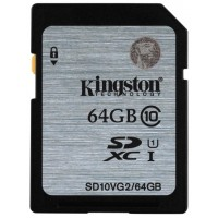 Изображение товара Карта памяти Secure Digital HC  Kingston SD10VG2/64GB