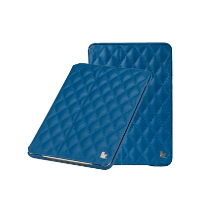 Фото  JisonCase Quilted Pattern Leather Smart Case чехол для iPad Mini голубой